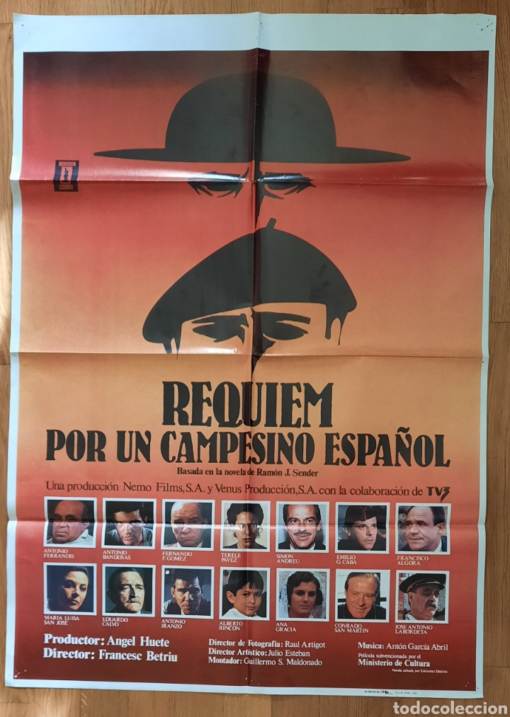 REQUIEN POR UN CAMPESINO ESPAÑOL / 100X70 (Cine - Posters y Carteles - Bélicas)