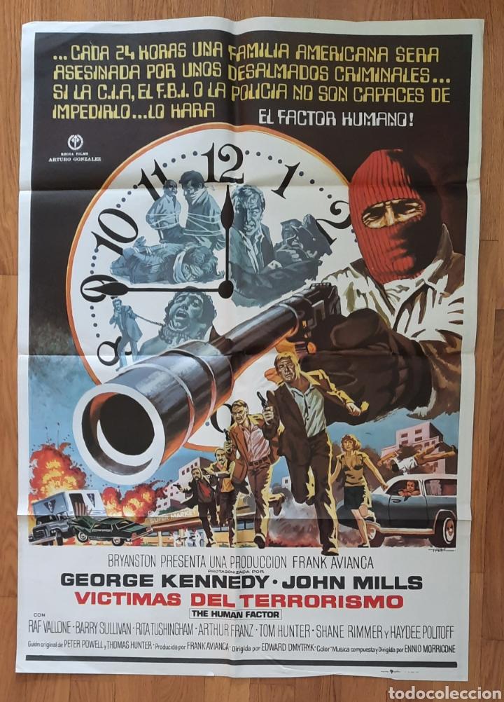 VICTIMAS DEL TERRORISMO / GEORGE KENNEDY 100X70 (Cine - Posters y Carteles - Suspense)