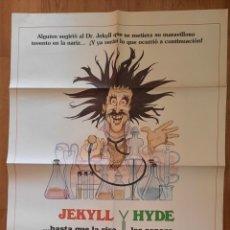 Cine: JEKILL Y JYDE HASTA QUE LA RISA LES SEPARE !! 100X70. Lote 242831135