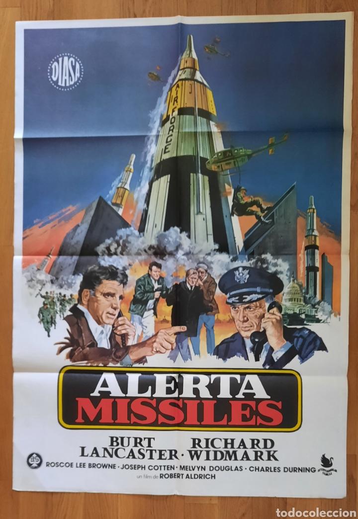 ALERTA MISSILES / BURT LANCASTER / RICHARD WIDMARK / 100X70 (Cine - Posters y Carteles - Bélicas)
