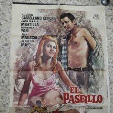 Cine: EL PASEILLO ANA MARISCAL EL PURI TOROS MAC POSTER ORIGINAL 70X100 ESTRENO. Lote 242905925