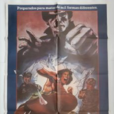 Cine: ANTIGUO CARTEL CINE PUÑO MORTAL KARATE 1982 R320 RV. Lote 242992855