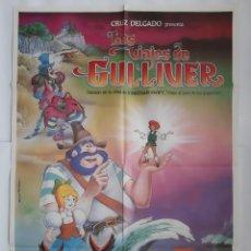 Cine: ANTIGUO CARTEL CINE LOS VIAJES DE GULLIVER 1983 R334 RV. Lote 243000250