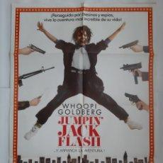 Cine: ANTIGUO CARTEL CINE JUMPIN` JACK FLASH - WHOOPI GOLDBERG 1986 R335 RV. Lote 243010570