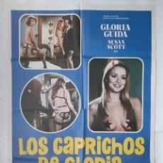 Cine: ANTIGUO CARTEL CINE LOS CAPRICHOS DE GLORIA R345 RV. Lote 243015750