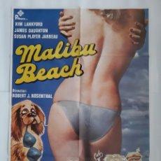 Cine: ANTIGUO CARTEL CINE MALIBU BEACH1979 R346 RV. Lote 243015985