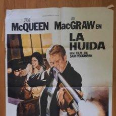 Cinema: LA HUIDA / STEVE MCQUEEN / ALLY MCGRAW / 100X70. Lote 243020180