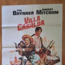 Cine: VILLA CABALGA / YUL BRINNER / ROBERT MITCHUM / CHARLES BRONSON. Lote 243022050