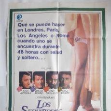 Cine: ANTIGUO CARTEL CINE LOS SEDUCTORES 1981 R361 RV. Lote 243078155