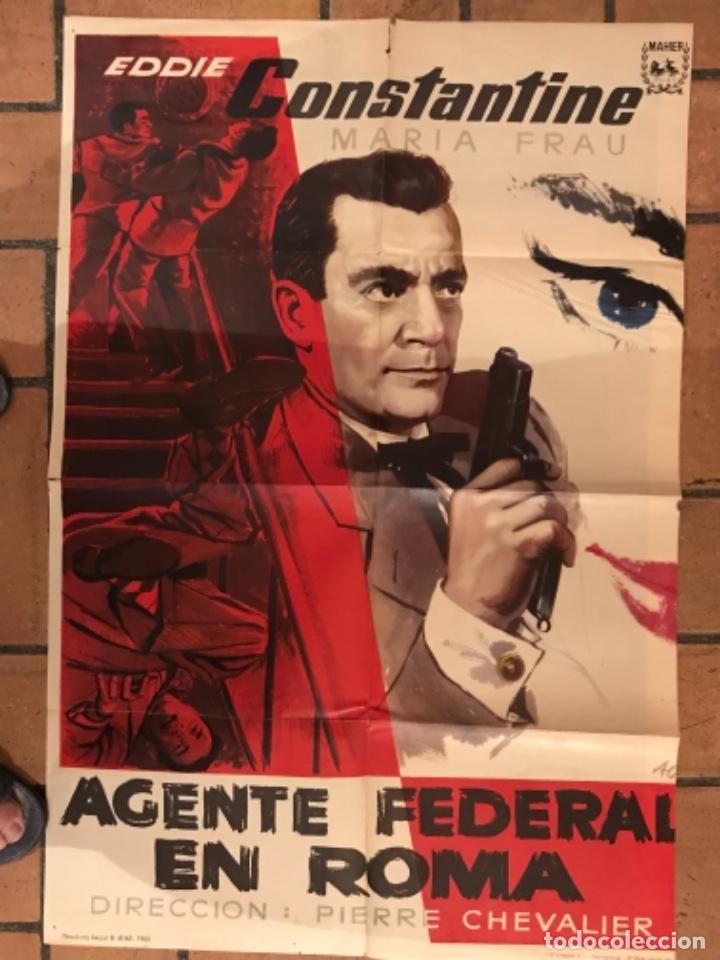 CARTEL CINE AGENTE FEDERAL EN ROMA (Cine - Posters y Carteles - Suspense)