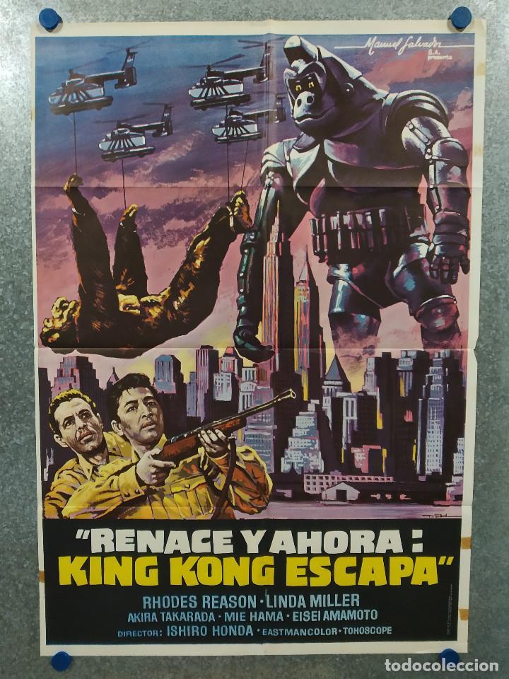 KING KONG ESCAPA. RHODES REASON, MIE HAMA, LINDA MILLER. AÑO 1977. POSTER ORIGINAL (Cine - Posters y Carteles - Ciencia Ficción)