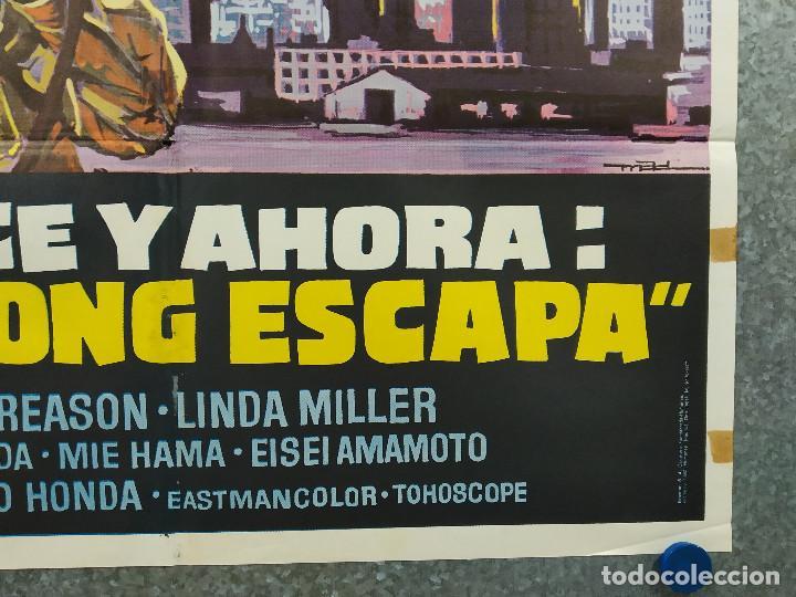 Cine: King Kong escapa. Rhodes Reason, Mie Hama, Linda Miller. AÑO 1977. POSTER ORIGINAL - Foto 6 - 243451160