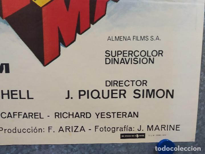 Cine: Supersonic Man. Antonio Cantafora, Cameron Mitchell, José Luis Ayestarán. AÑO 1979. POSTER ORIGINAL - Foto 5 - 243451805