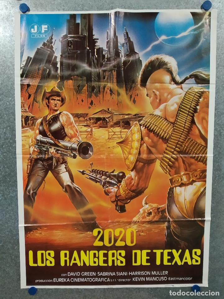 2020: LOS RANGERS DE TEXAS. AL CLIVER, HARRISON MULLER JR., DANIEL STEPHEN AÑO 1984. POSTER ORIGINAL (Cine - Posters y Carteles - Ciencia Ficción)