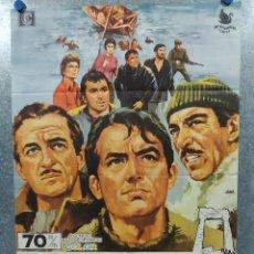 Cine: LOS CAÑONES DE NAVARONE. GREGORY PECK, DAVID NIVEN, RICHARD HARRIS AÑO 1970. POSTER ORIGINAL. Lote 243454545