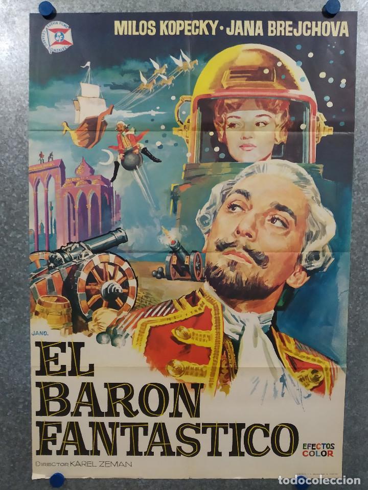 EL BARON FANTASTICO. MILOS KOPECKY, JANA BREJCHOVA - AÑO 1965 POSTER ORIGINAL (Cine - Posters y Carteles - Bélicas)