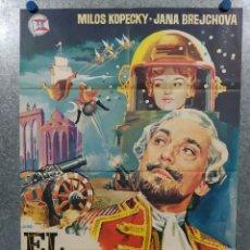 Cinema: EL BARON FANTASTICO. MILOS KOPECKY, JANA BREJCHOVA - AÑO 1965 POSTER ORIGINAL. Lote 243454910