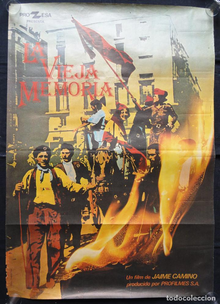 LA VIEJA MEMORIA - CARTEL DE CINE - UN FILM DE JAIME CAMINO (Cine - Posters y Carteles - Documentales)