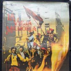 Cine: LA VIEJA MEMORIA - CARTEL DE CINE - UN FILM DE JAIME CAMINO. Lote 243459370
