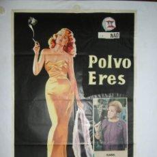 Cine: POLVO ERES - 100 X 70 - OFFSET. Lote 243532210