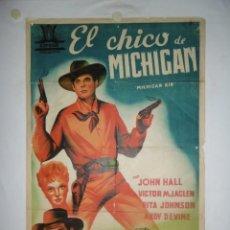 Cine: EL CHICO DE MICHIGAN - 100 X 70 - LITOGRAFICO. Lote 243532280