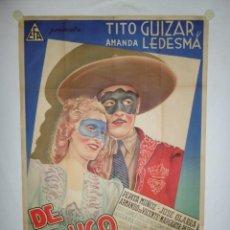 Cine: DE MEJICO LLEGO EL AMOR - 110 X 75 - LITOGRAFICO. Lote 243532335