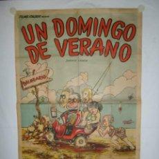 Cine: UN DOMINGO DE VERANO - 110 X 75 - LITOGRAFICO. Lote 243532370