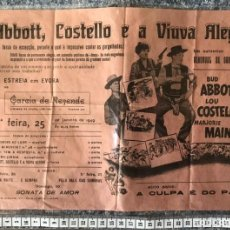 Cine: ST 74 CINE ABBOTT COSTELLO E A VIUVA ALEGRE OESTE PISTOLA HUMOR EVORA 1000 24/1/1949 PORTUGAL. Lote 243577635