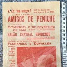 Cine: ST 75 CINE AMIGOS DE PENICHE FERNANDEL DUVALLES EVORA 1500 9/2/1940 PORTUGAL. Lote 243591645