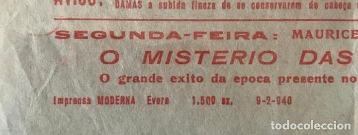 Cine: ST 75 CINE AMIGOS DE PENICHE FERNANDEL DUVALLES EVORA 1500 9/2/1940 PORTUGAL - Foto 2 - 243591645