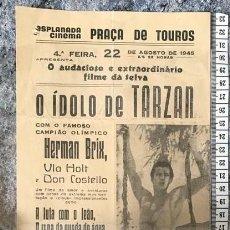 Cinema: ST 80 CINE O IDOLO DE TARZAN HERMAN BRIX VLA HOLT DON COSTELLO EVORA 1500 21/8/1945 PORTUGAL. Lote 243594760