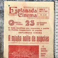 Cine: ST 82 CINE A MINHA NOITE DE NUPCIAS ESTEVAO AMARANTE BEATRIZ COSTA LEOPOLDO FROES EVORA PORTUGAL. Lote 243595360