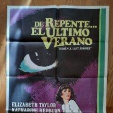 Cinema: DE REPENTE... EL ULTIMO VERANO / ELISABETH TAYLOR / KATHARINE HEPBURN / 100X70. Lote 243599300
