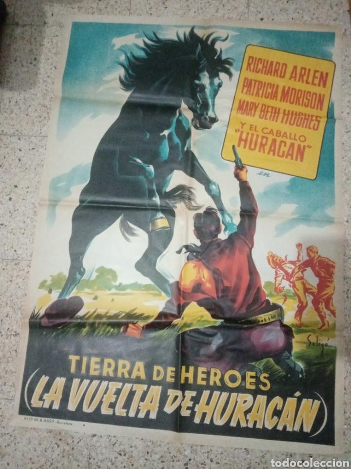 Cine: Cartel cine original español tierra de heroes, la vuelta de huracan, richard arlen, patricia morison - Foto 9 - 243672930