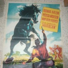 Cine: CARTEL ORIGINAL ESPAÑOL TIERRA DE HEROES, LA VUELTA DE HURACAN, RICHARD ARLEN, PATRICIA MORISON. Lote 243672930