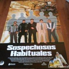 Cine: SOSPECHOSOS HABITUALES - KEVIN SPACEY, GABRIEL BYRNE, CHAZZ PALMINTERI - POSTER ORIGINAL UNION 1995. Lote 243678035