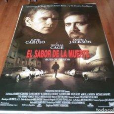 Cine: EL SABOR DE LA MUERTE - NICOLAS CAGE, DAVID CARUSO, SAMUEL L. JACKSON - POSTER ORIGINAL FOX 1995. Lote 243678210