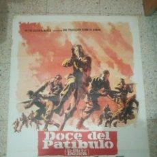 Cine: CARTEL CINE ORIGINAL ESPAÑOL DOCE DEL PATIBULO, LEE MARVIN, ERNEST BORGNINE. Lote 243680435