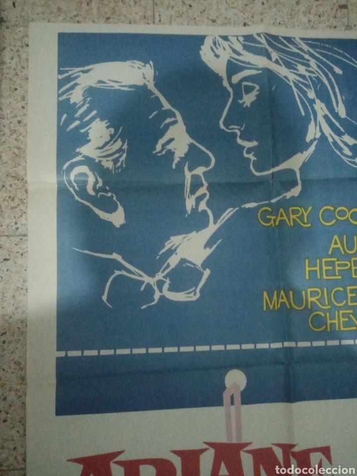 Cine: Cartel cine original español ariane, billy wilder, audrey hepburn, gary cooper, maurice chevalier - Foto 2 - 243681065