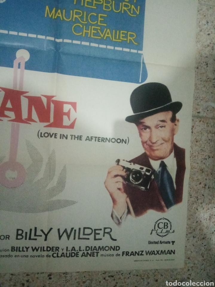 Cine: Cartel cine original español ariane, billy wilder, audrey hepburn, gary cooper, maurice chevalier - Foto 5 - 243681065