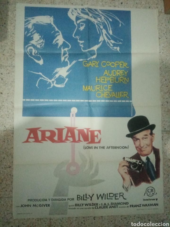 Cine: Cartel cine original español ariane, billy wilder, audrey hepburn, gary cooper, maurice chevalier - Foto 6 - 243681065