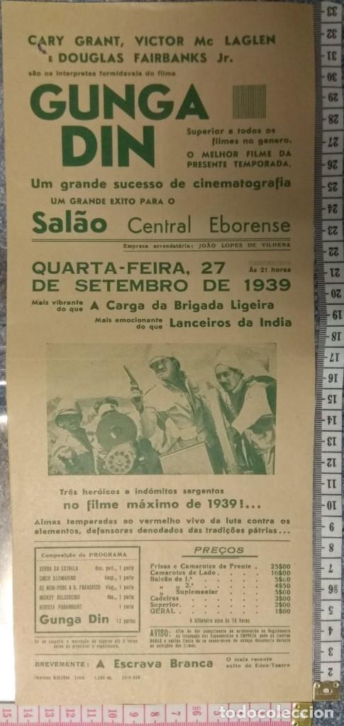 ST 109 CINEMA GUNGA DIN CARY GRANT VICTOR MC LAGLEN DOUGLAS FAIRBANKS JR. EVORA 1500 26/9/1939 (Cine - Posters y Carteles - Comedia)