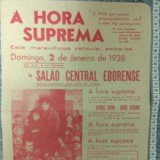 Cine: ST 110 CINEMA A HORA SUPREMA DRAMA AMOR SIMONE SIMON JAMES STEWART EVORA 1500 30/12/1937 PORTUGAL. Lote 243686825