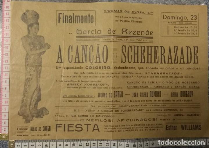 ST111 CINEMA A CANÇAO DE SCHEHERAZADE IVONE DE CARLO JEAN PIERRE AUMONT BRIAN DONLEVY EVORA PORTUGAL (Cine - Posters y Carteles - Comedia)