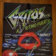 Cine: GRITOS A RITMO FUERTE / DE NUNES 100X70. Lote 243794735