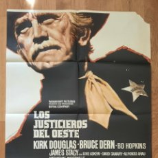 Cine: LOS JUSTICIEROS DEL OESTE / KIRK DOUGLAS / 100X70. Lote 243834335