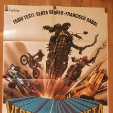Cine: VERTIGO EN LA PISTA / FABIO TESTI / FRANCISCO RABAL / 100X70. Lote 243835785