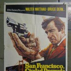 Cine: CDO 9045 SAN FRANCISCO CIUDAD DESNUDA WALTER MATTHAU MAC POSTER ORIGINAL 70X100 ESTRENO. Lote 243860380