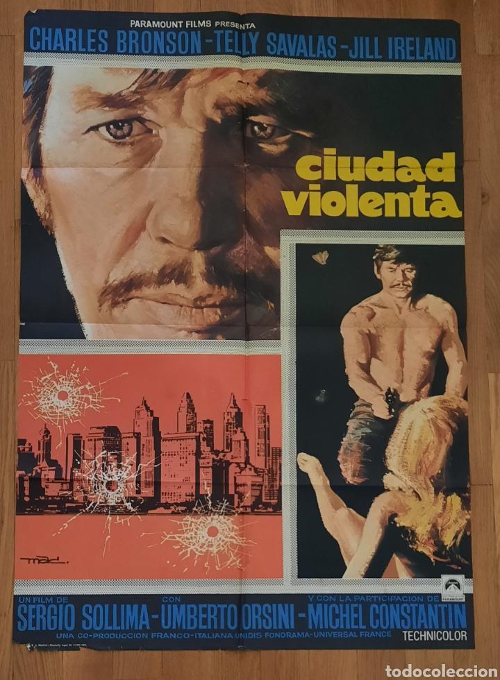 CIUDAD VIOLENTA / CHARLES BRONSON / TELLY SAVALAS / 100X70 MAC (Cine - Posters y Carteles - Acción)