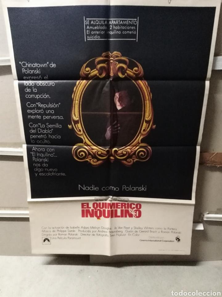 EL QUIMERICO INQUILINO (LE LOCATAIRE) POSTER ORIGINAL 70X100 DEL ESTRENO (Cine - Posters y Carteles - Suspense)